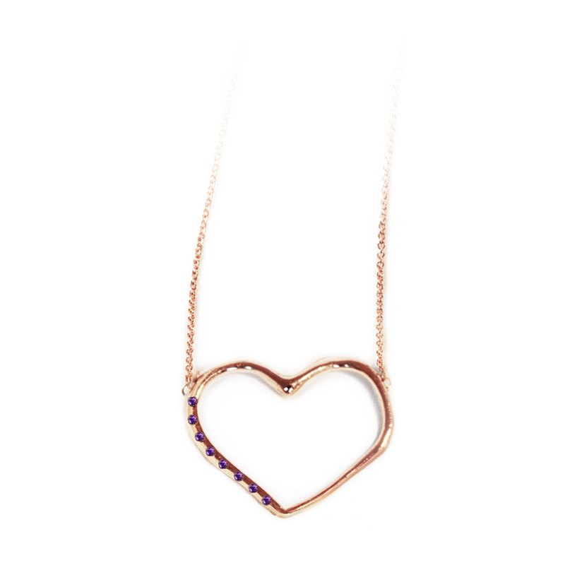 9 Kt rose gold necklace