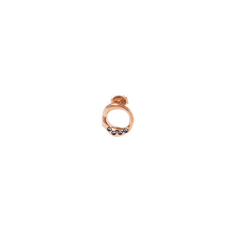 9 Kt rose gold earring
