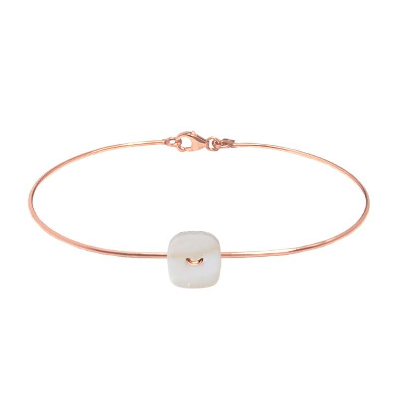 9 Kt rose gold bracelet - Mother-of-pearl