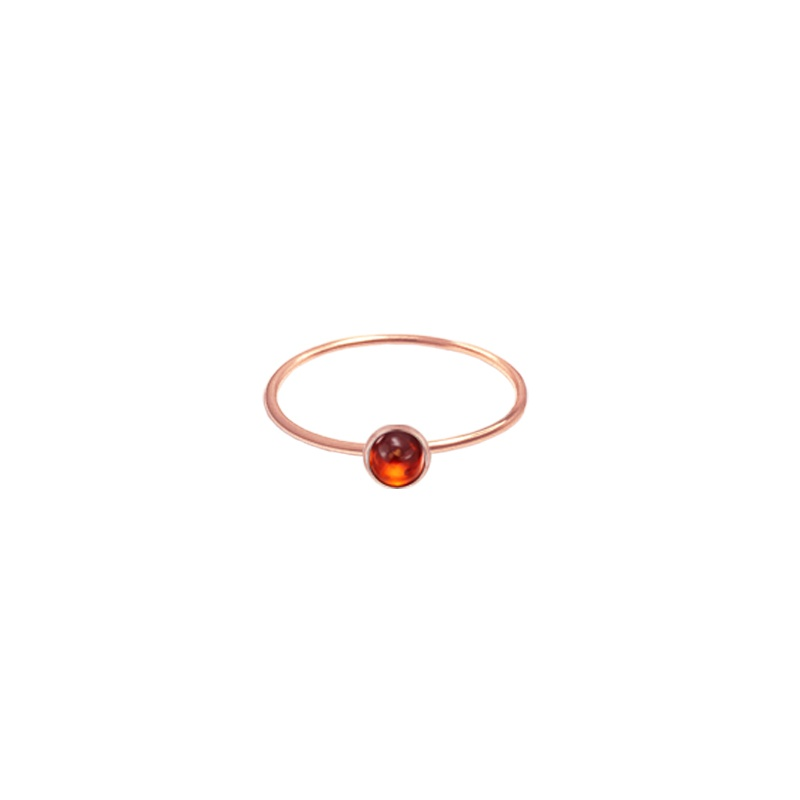 9 Kt rose gold ring - Flex - Garnet