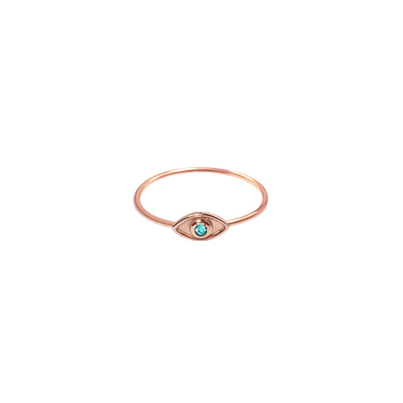 9 Kt rose gold ring - Eye